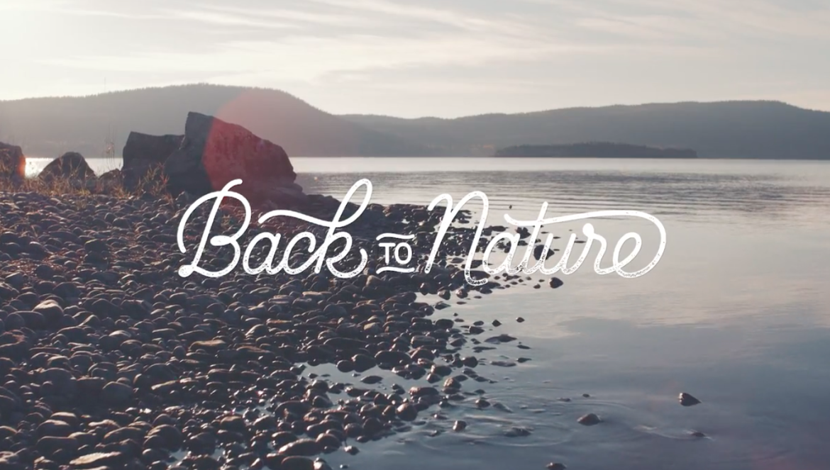 back to nature opening screen and logo